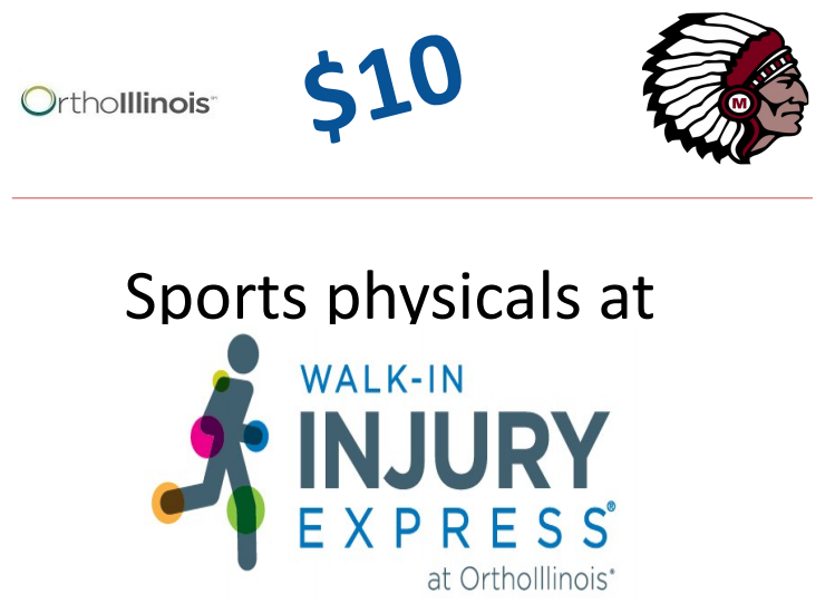 $10 Physicals Available.  All of the money goes back to Marengo Athletics!