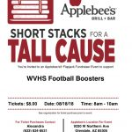 Football Fundraiser at Appleebee's