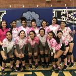 Volleyball Dig Pink tonight against La Joya. Varsity wins…