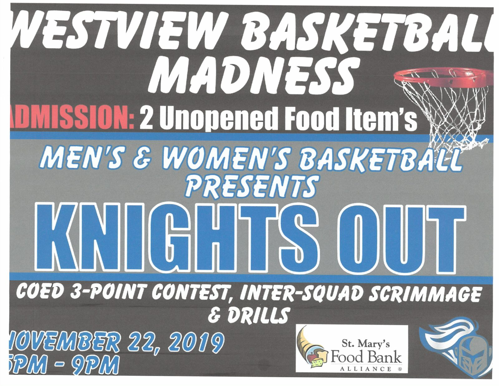KNIGHTS OUT Boys and Girls Basketball Event