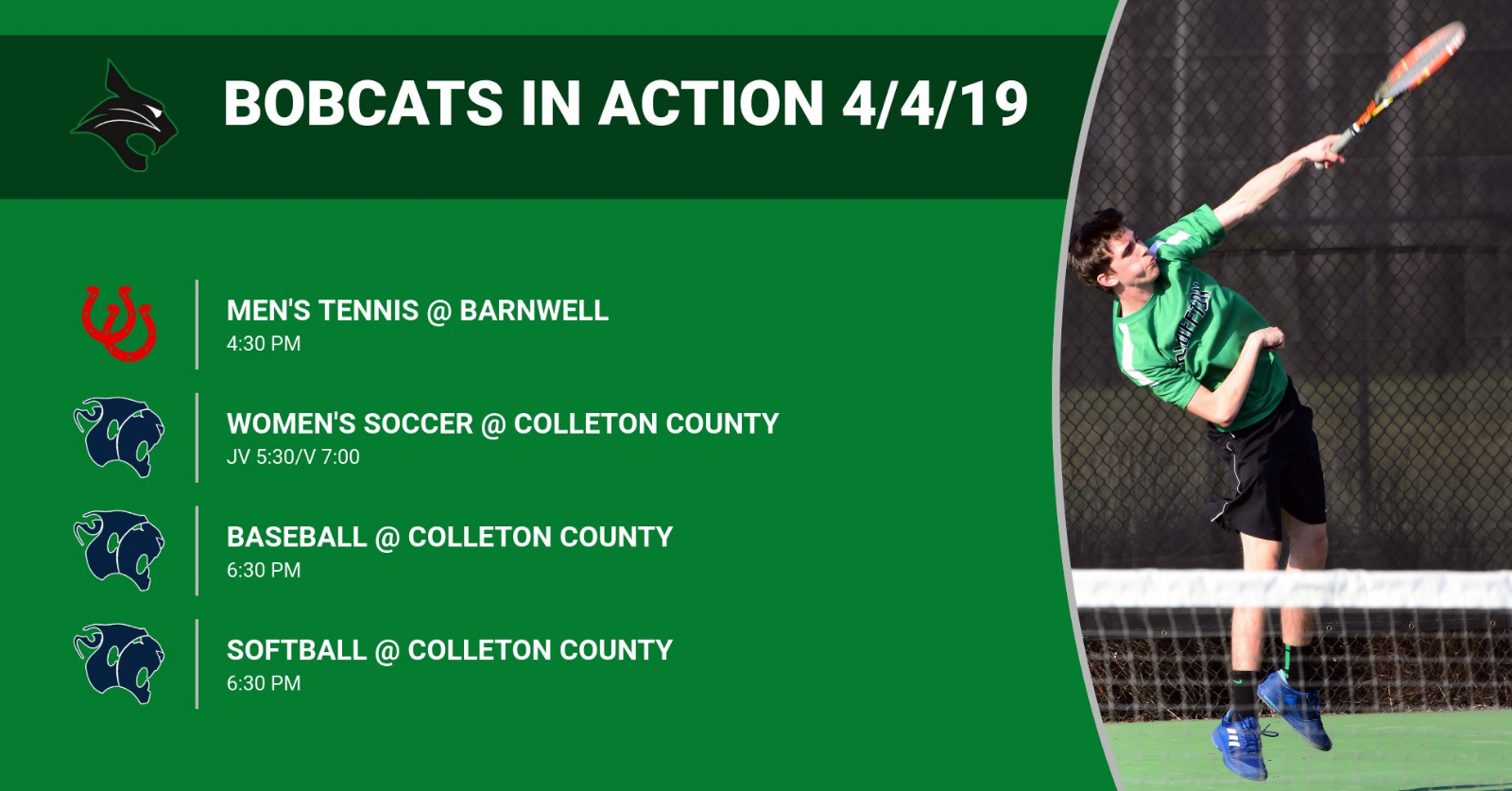 Bobcats in Action 4/4/19