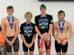 Bobcats Take 3rd in AAAA State Swimming 200 Yard Medley Relay