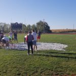 Seniors Paint the Circle-T for Homecoming