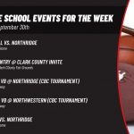 Middle School Events for the Week of September 30th