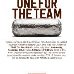 Athletic Booster's Chipotle Night – November 6th