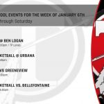 High School Events for the Week of January 6th