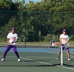 Varsity Tennis wins first road match 8-0