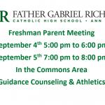 Freshman Parent Meeting