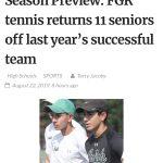 FGR Tennis Ready for the 2019 Season!