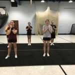 Cheer Team Breaking in NEW Tumbling Mats