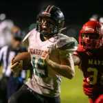 Bronger Carries Football to Fourth Win