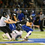 Football Posts Tough Win