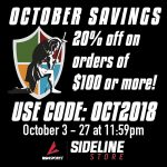 20% Off Sale in Sideline Store
