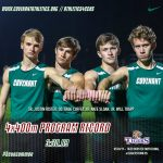 T&F Strong Showing at Tiger Booster Invite, New Boys 4x400m Record Set