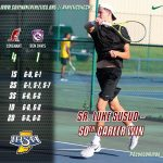 Boys Tennis Advances to Sectional Final, Susud Wins 50th