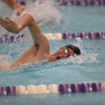 Swimming Finishes Sweep of Program Record Board, Fink Wins Two CCC Titles