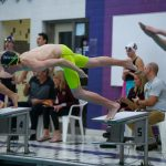 Fink Wins Two Events at Schools Without Pools