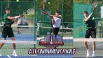 Boys Tennis Advances Two Flights to City Finals