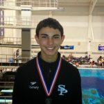 8th Grader Zachary El-Fallah, Runner up at State Diving Championship
