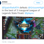 Spain Park League of Legends Team Wins Inaugural State Championship