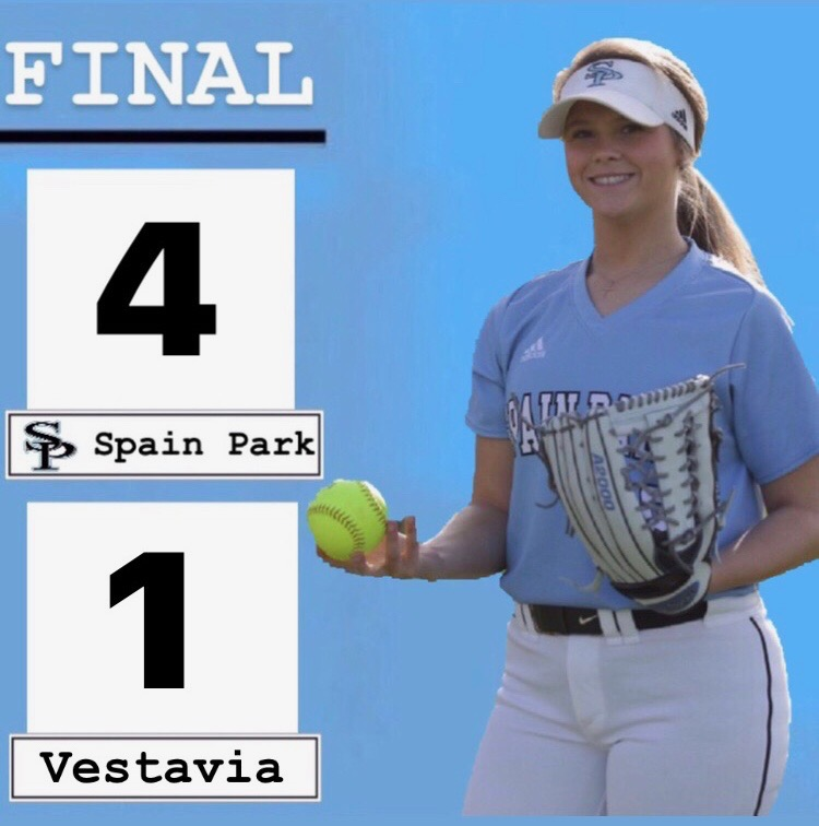 Spain Park Softball defeats Vestavia 4-1  in the finals of Leeds Classic.