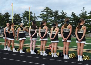 Cheer – Jasper vs Evansville Memorial Football (V)