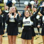 Cheer - Jasper vs Gibson Southern Basketball