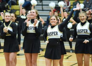 Cheer – Jasper vs Gibson Southern Basketball