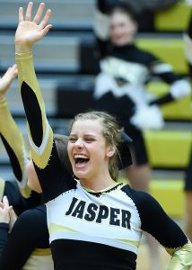 Cheer – Jasper vs Evansville Central Basketball