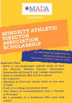 SCHOLARSHIP OPPORTUNITY Class of 2020
