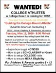 FREE College Eligibility and Scholarship Workshops