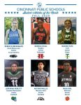 CPS Fall Student-Athletes of the Month