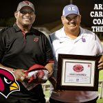 """Congratulations Coach Schureman–AZ Cardinals """"HS Coach of the Week!"""""""