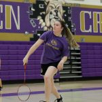 Girls badminton finishes regular season with win