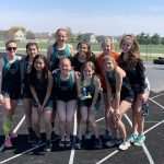 Girls Varsity Track finishes 4th place at GK Invite with only 9 girls
