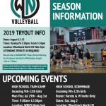 Updated: Volleyball Tryouts Starting August 12th!
