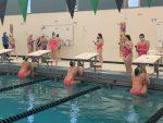 Girls Varsity Swimming beats Dundee-Crown 128 – 56