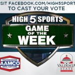 VOTE NOW HIGH 5 SPORTS GAME OF THE WEEK