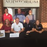 Roman Boothe signs lacrosse letter with Adelphi University