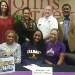 Selah Malcoln signs to play Volleyball at the University of Albany