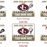 Order a yard sign to support your spring athlete