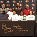 Aaron Hamilton signs to play Division 1 football at Eastern Michigan
