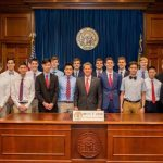 JCHS Men's State Swim Team Meeting with Governor Kemp