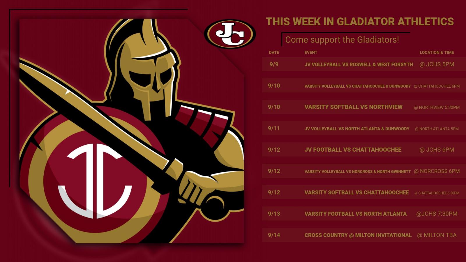 This week in Gladiator Athletics
