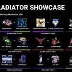 Gladiator Showcase Day 2 Matchups