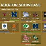 Day 3 Gladiator Showcase Matchups