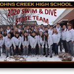 Congratulations to the JCHS 2020 Swim/Dive State Team
