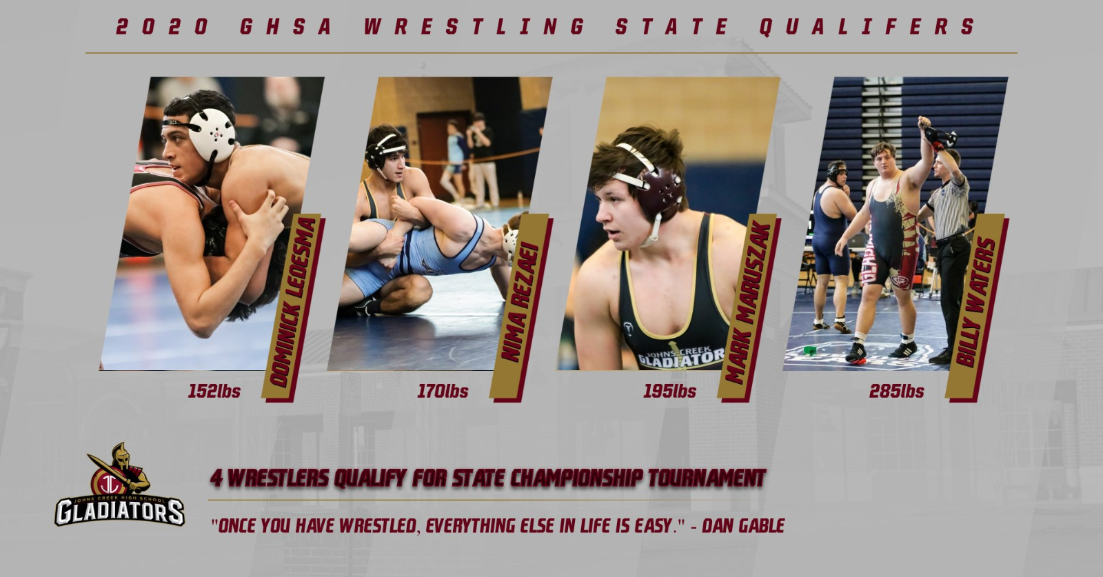 4 Wrestlers Qualify for State Tournament