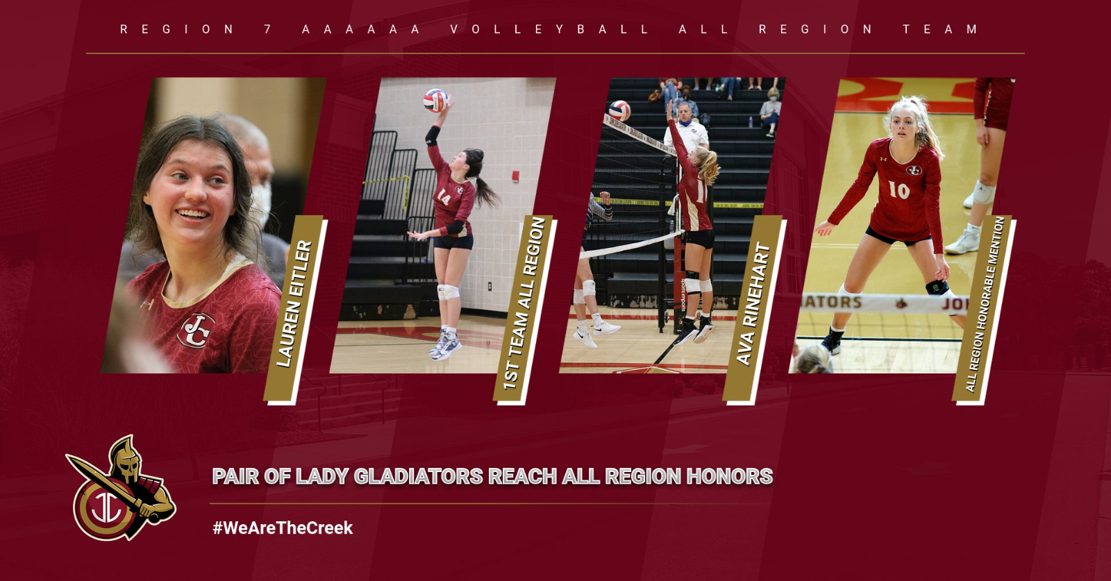 Pair of Lady Gladiators named to All Region Volleyball Team