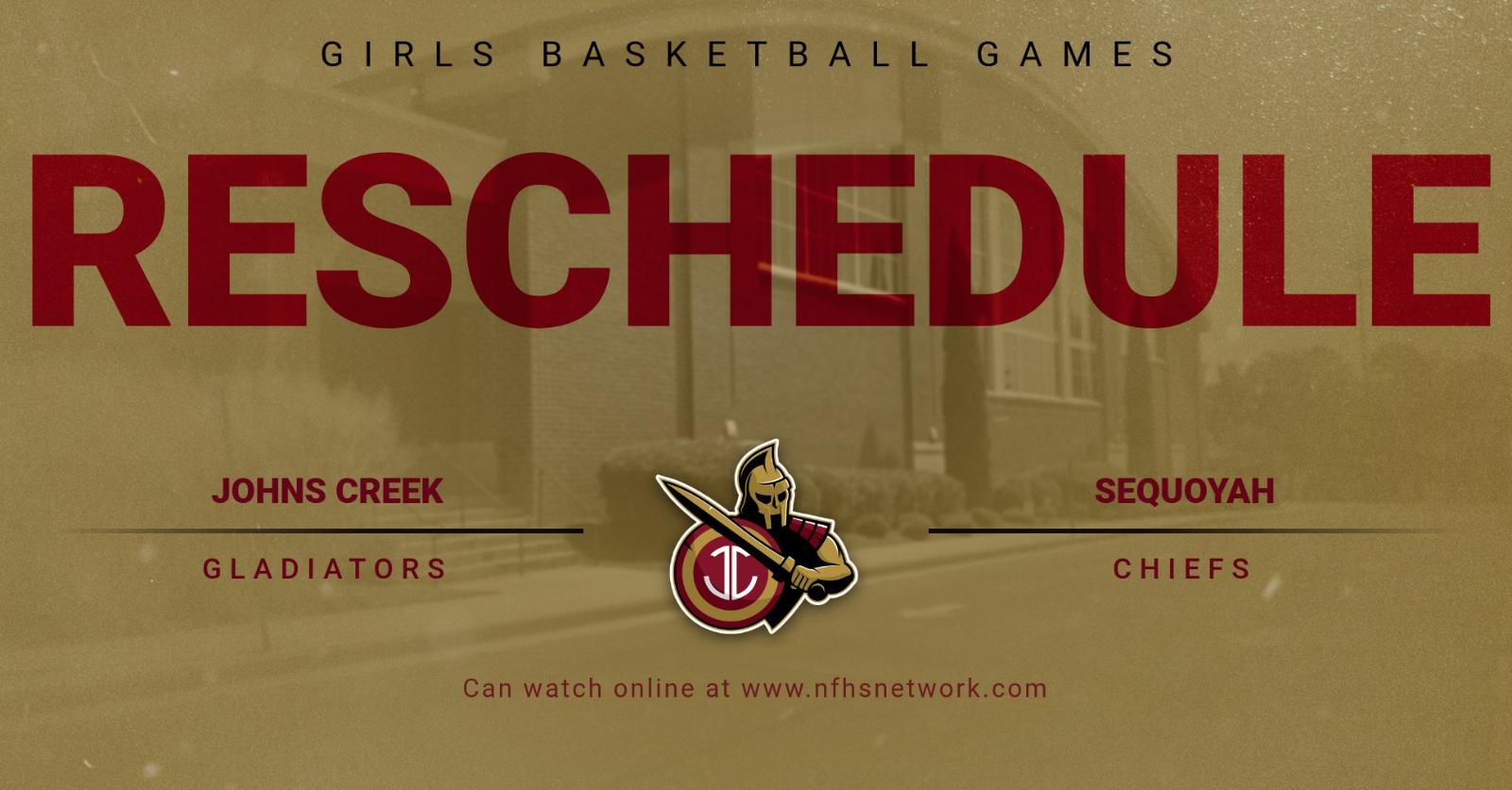Girls Basketball Games Rescheduled